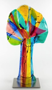 Booming colors Tree   23x44 cm